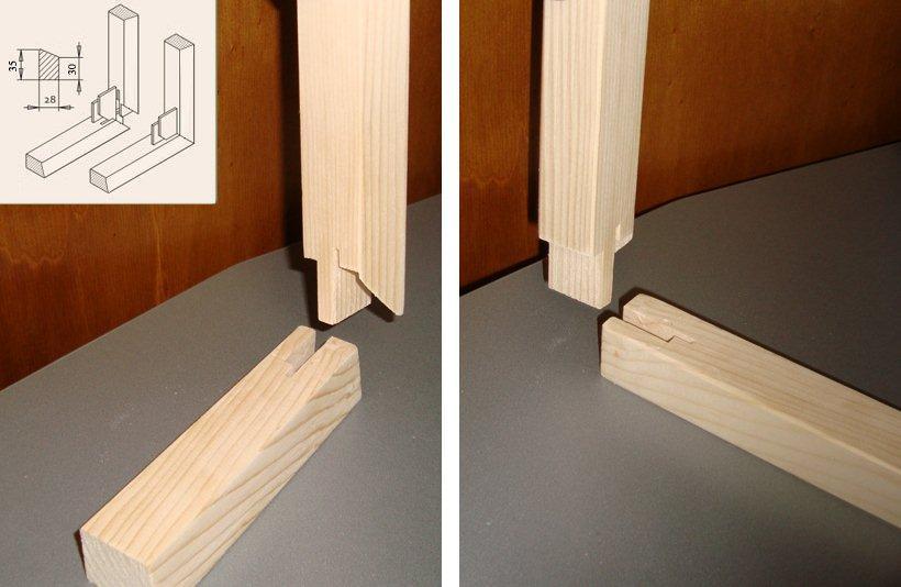 telai in legno con misure per vetromattoni misure standard : Tele E Telai (Costruzione) online a Modulor. Listello standard per ...